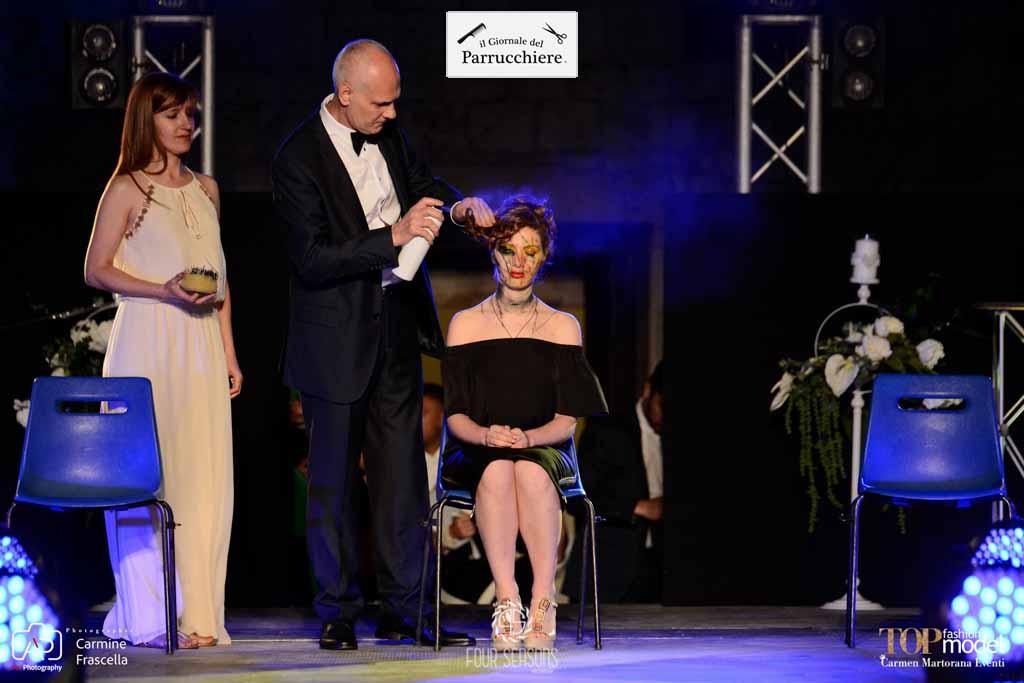Antonino Cianciolo, Valeria Marini, Gioele de Liso, Moda Sotto le Stelle Glamour