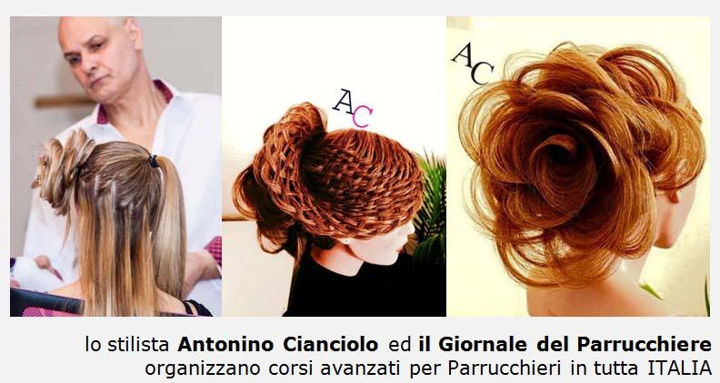 Antonino Cianciolo, corsi Parrucchieri